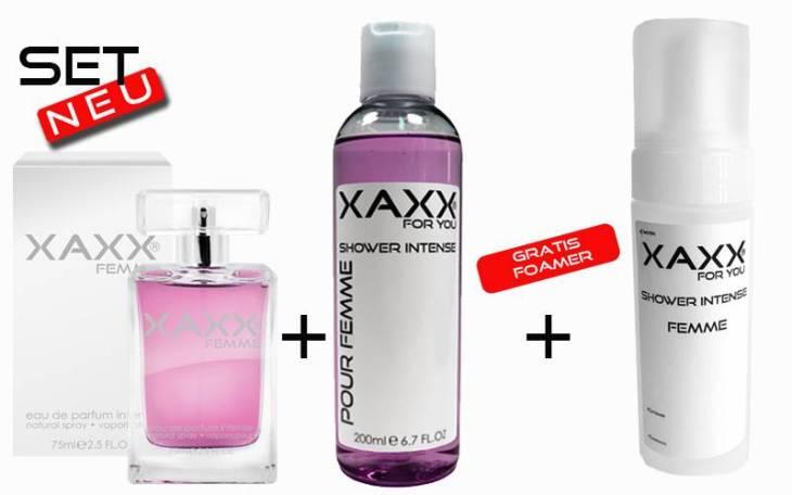 XAXX Set mit veganen Kosmetik-Produkten aus dem Düfte Markt.